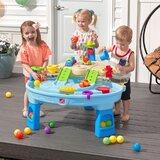 """Table de jeu de sable et d'eau ronde en plastique 36,5"""" x 27,25"""" ball buddies adventure center"""