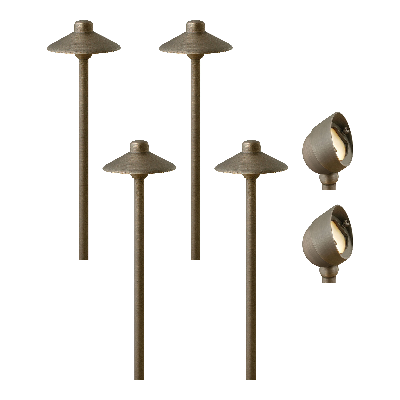 Arlmont Co Kacie Matte Bronze Low Voltage Hardwired Led Configurable Landscape Lighting Kit Wayfair