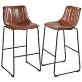 Curlee 29.3 Bar Stool (Set of 2) by 17 Stories