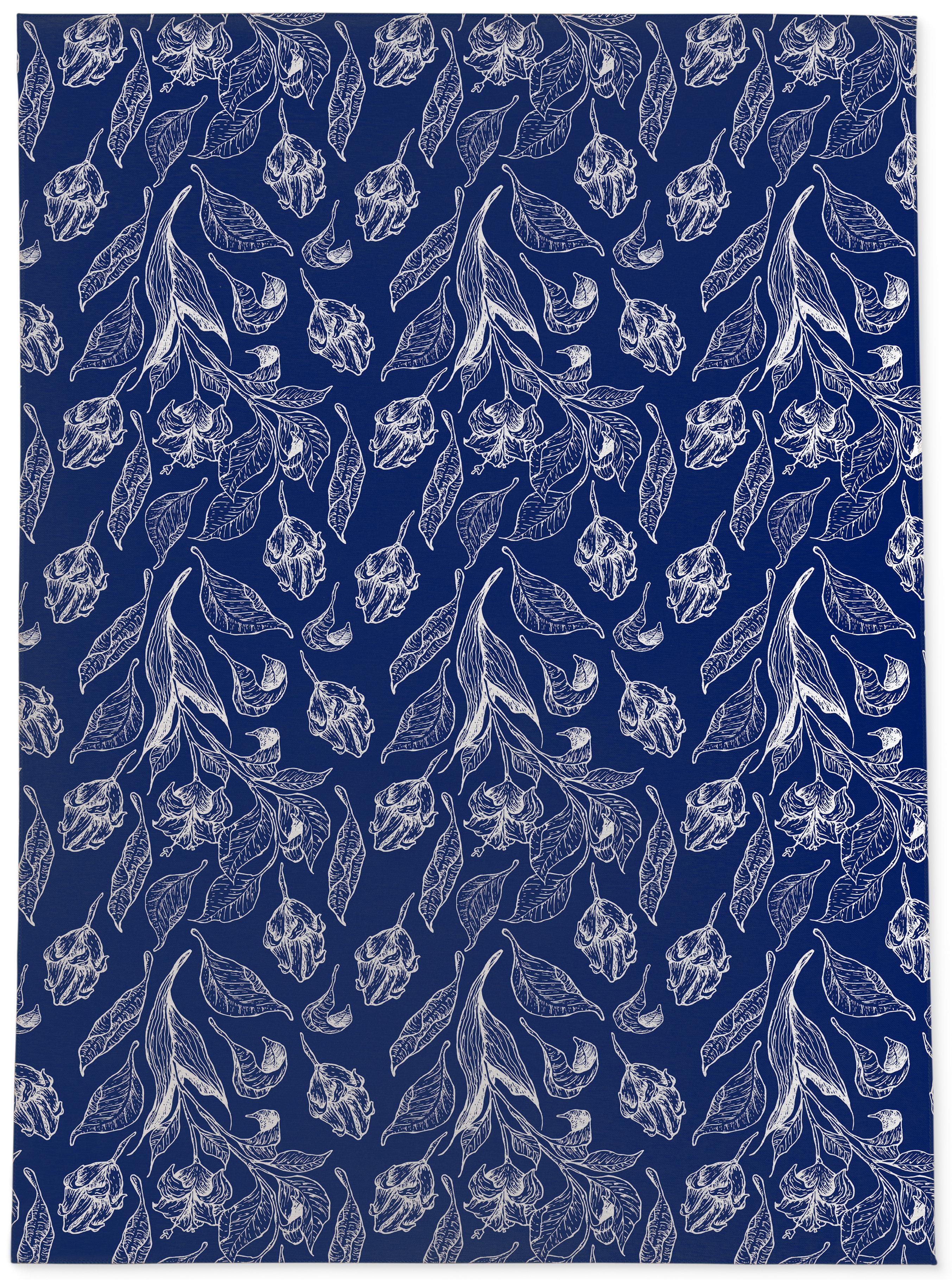August Grove Tunc Cobalt Blue Rug
