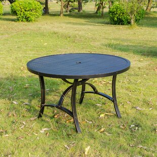 Kain Metal Dining Table by Red Barrel Studio