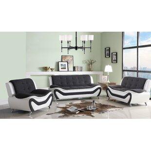 Anouk Classical 3 Piece Conservatory Living Room Set by Orren Ellis