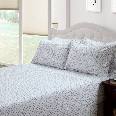 214 West Ditsy Floral Lily 300 Thread Count Cotton 3 Piece Sheet Set
