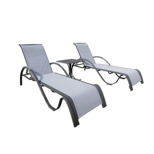 Panama Jack Outdoor Newport Beach 3 Piece Chaise Lounge Set