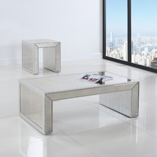 Reviews Mirrored Coffee Table By BestMasterFurniture