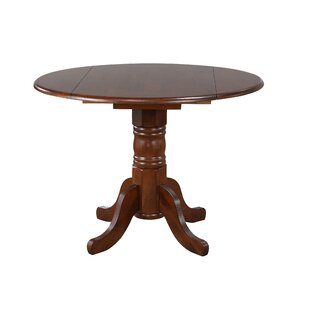 Kenya Drop Leaf Solid Wood Dining Table August Grove