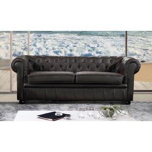 Tan Leather Chesterfield Sofa Wayfair