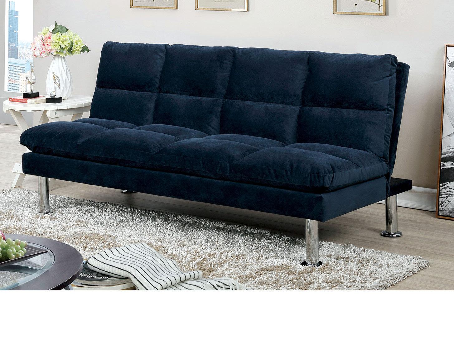 Latitude Run Pallesen Twin Or Smaller Tufted Back Convertible Sofa Wayfair