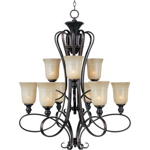 Alcott Hill Callihan 9-Light Shaded Chandelier