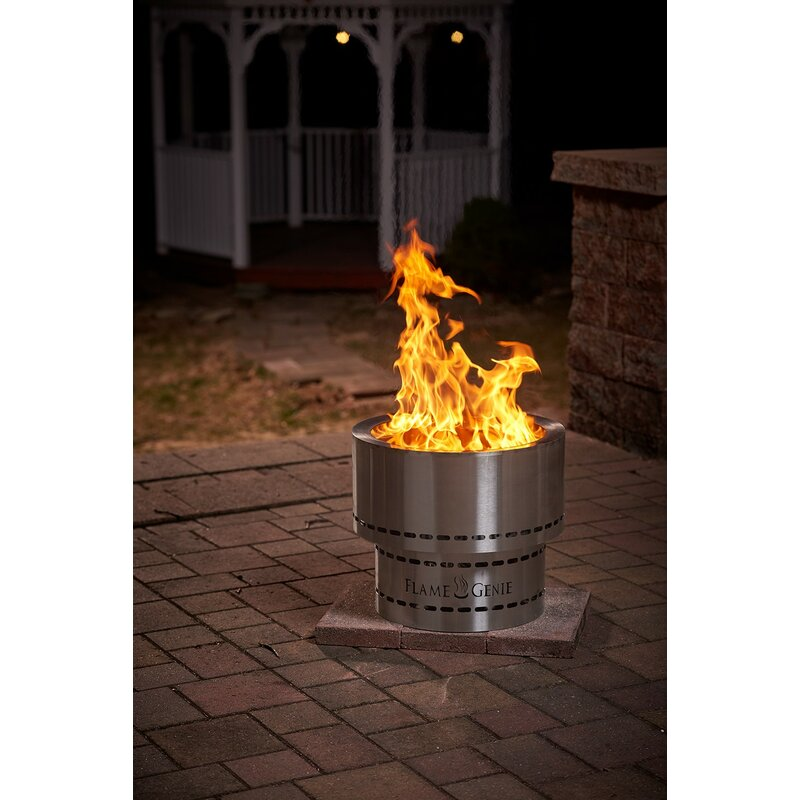 Flame Genie Inferno Steel Wood Pellet Fire Pit Reviews Wayfair
