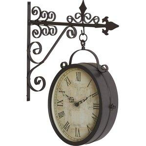 metal outdoor double clock decor
