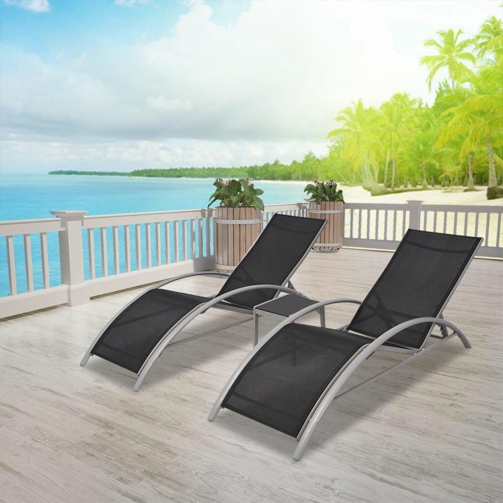 Charlisa Sun Lounger Set with Table