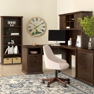 Three Posts Ferrell 4 Piece L-Shape Desk Office Suite