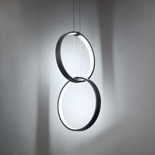 2-Light LED Geometric Chandelier by Modern Forms