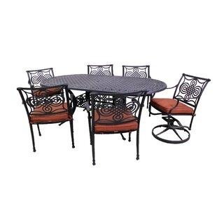 Laux 7 Piece Dining Set with Sunbrella Cushions by Bloomsbury Market