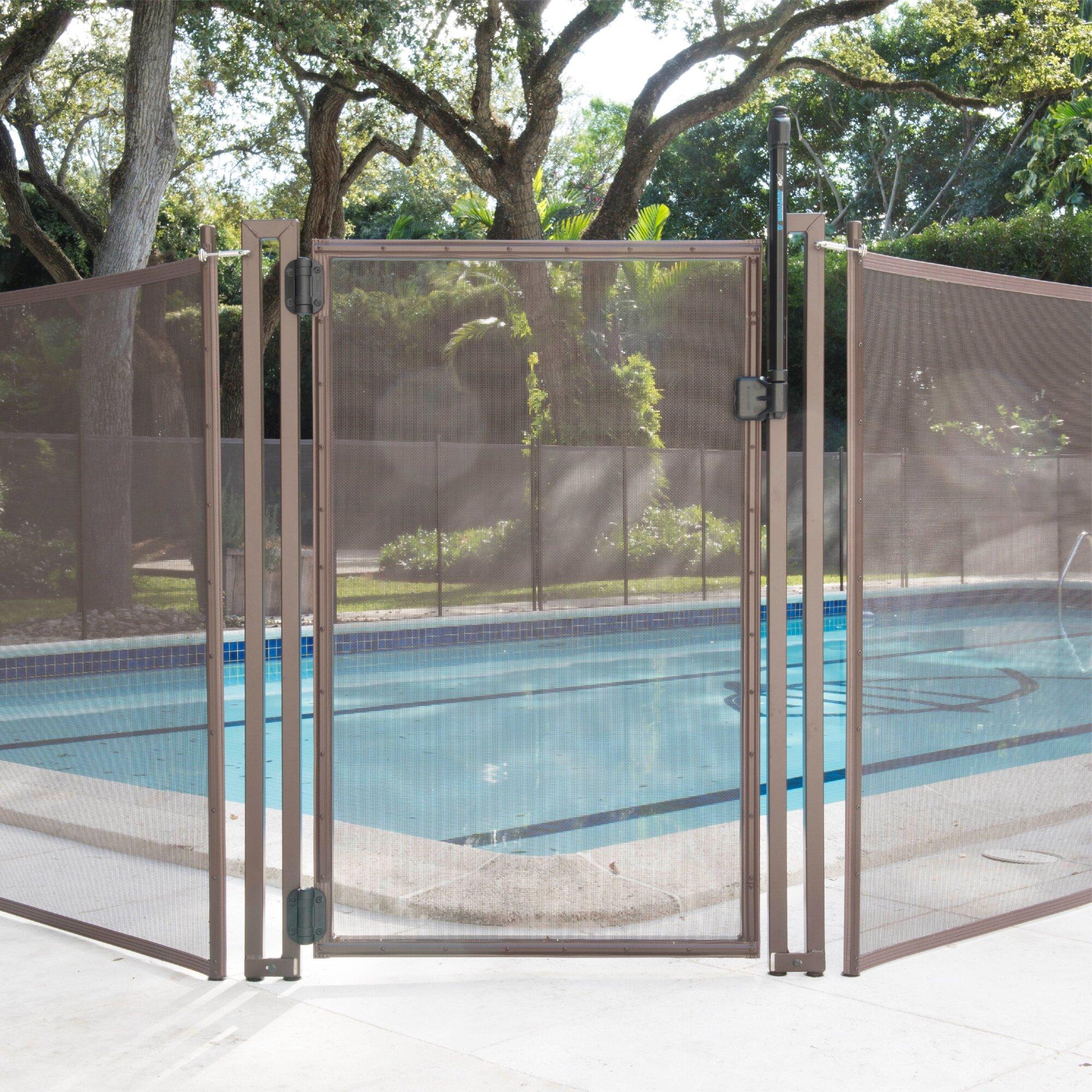 Poolfencediy Wide Pool Fence Diy Flat Top Vinyl Gate Reviews Wayfair