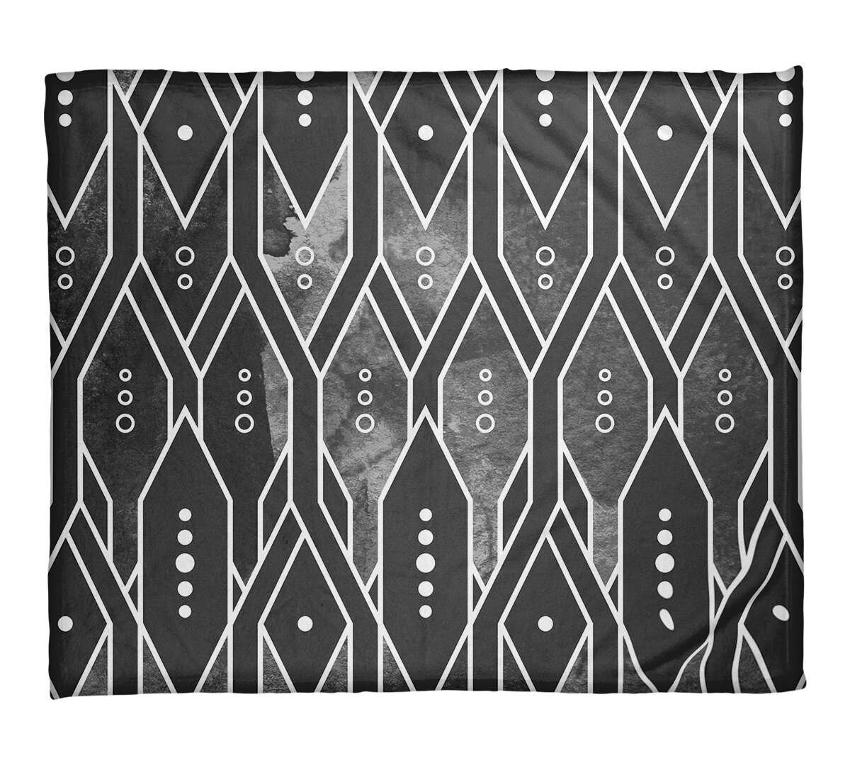 East Urban Home Mcguigan Trellis Pattern Fleece Throw Wayfair