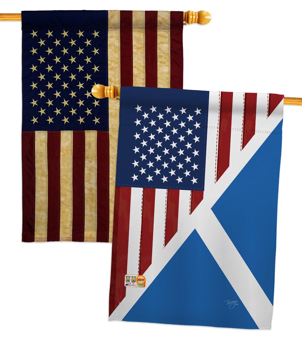 Breeze Decor Friendship Impressions Decorative 2 Sided Polyester 40 X 28 In 2 Piece House Flag Set Wayfair