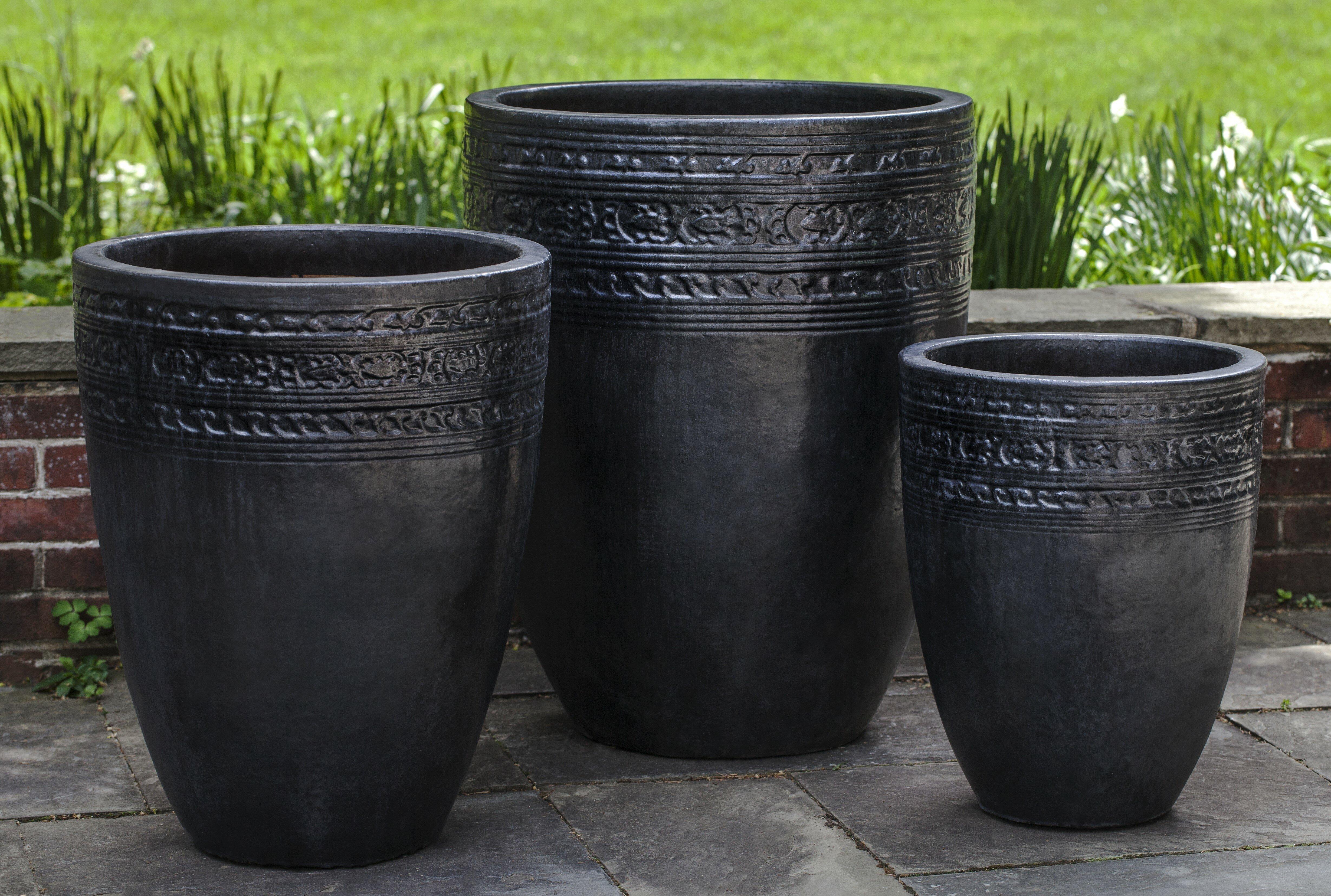 Campania International Inc Sari 3 Piece Pot Planter Set Wayfair