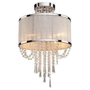 Marquette Semi Flush Mount by Rosdorf Park