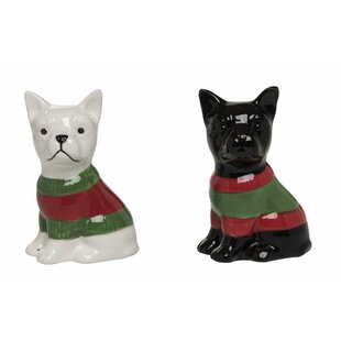 Otterson Dolomite Sweater Frenchie Salt & Pepper Shaker Set