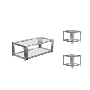 Hardnett 3 Piece Coffee Table Set