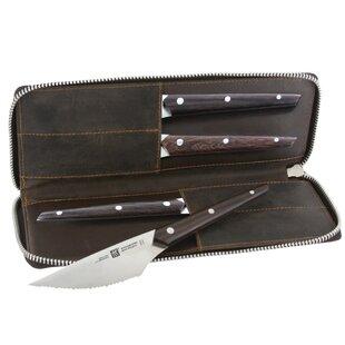 Gentlemen's 4 Piece Knife Set with Storage (Set of 4)