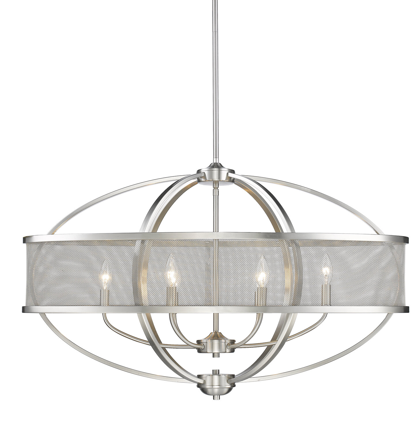 Laurel Foundry Modern Farmhouse Earlene 6 Light Candle Style Geometric Chandelier Reviews Wayfair