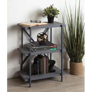 Charles Freestanding 3-Tier Bookcase Williston Forge