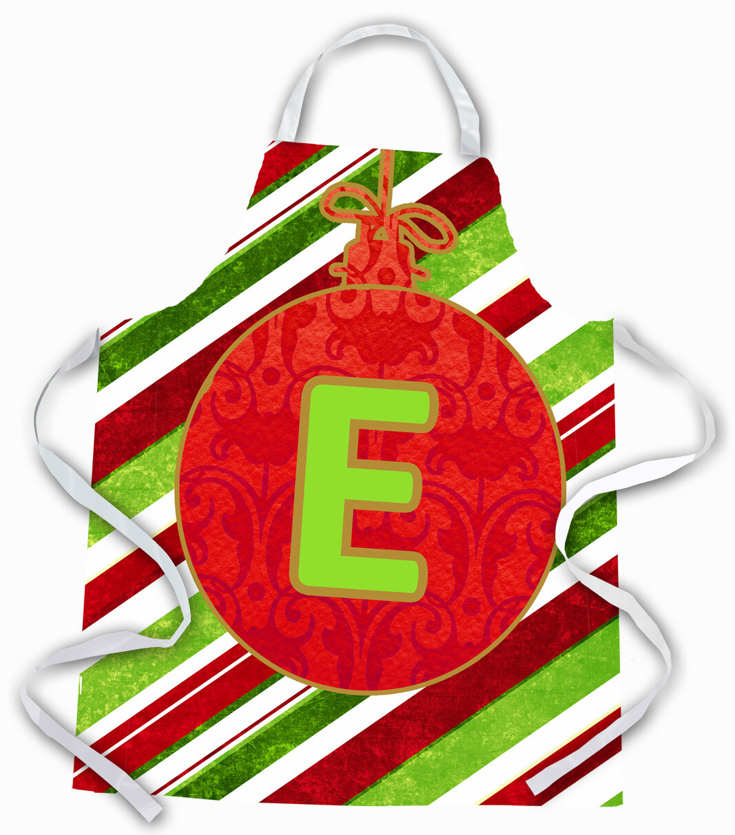 The Holiday Aisle Christmas Ornament Holiday Initial Letter E Apron Wayfair