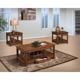Loon Peak Clearfield 3 Piece Coffee Table Set