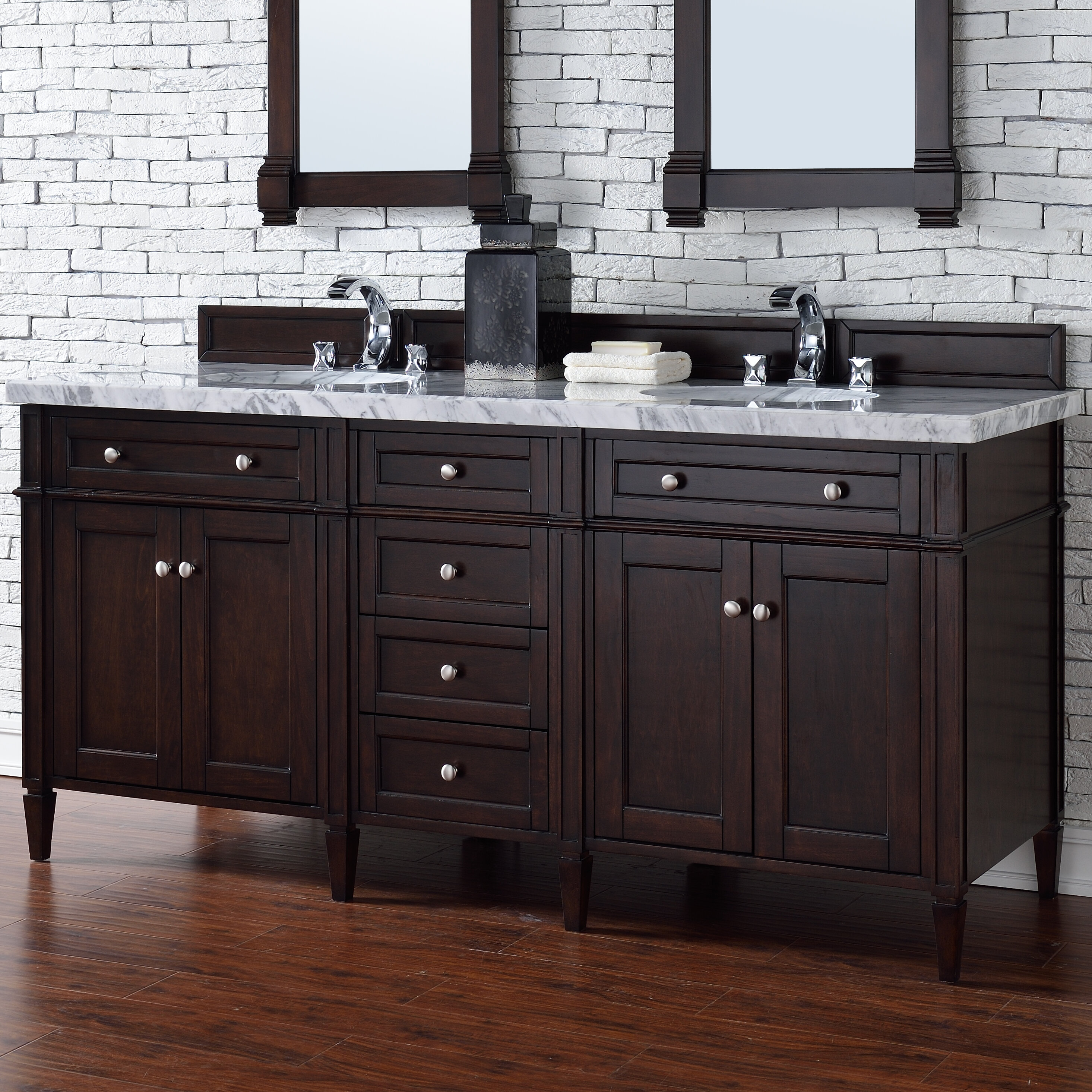 James Martin Furniture Brittany 72 Double Bathroom Vanity Base Only