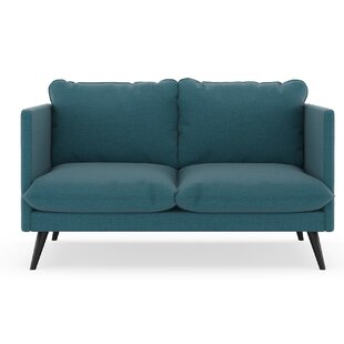 Shop Covertt Oxford Weave Loveseat by Corrigan Studio