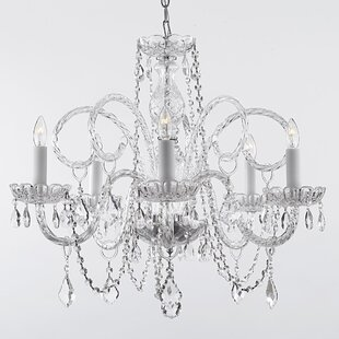 House of Hampton Meredith 5-Light Chain Candle Style Chandelier (Set of 10)