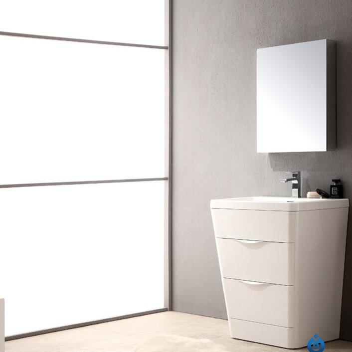 Terrific Milano 26 Single Sink Modern Bathroom Vanity Set Download Free Architecture Designs Lectubocepmadebymaigaardcom