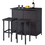 Eligia Patio Outdoor 3-Piece Bar Set