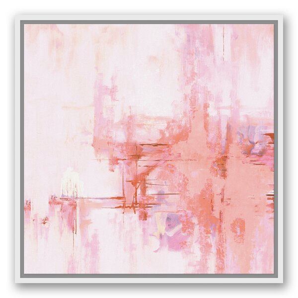 Wrought Studio Blush Pink Abstract Framed Graphic Art Print On Canvas Wayfair