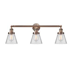 Williston Forge Andrews Cone 3-Light Vanity Light