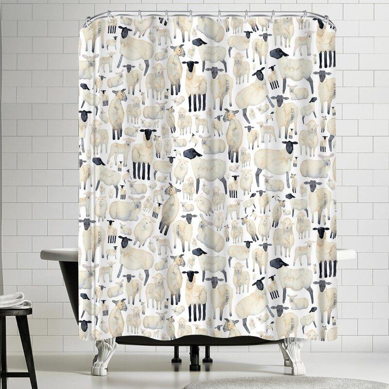 Elena Oneill Sheep Shower Curtain