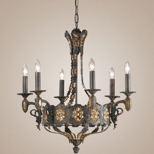 Classic Lighting Castillio de Bronce 6-Light Candle Style Chandelier