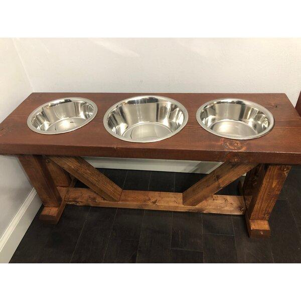 3 Bowl Dog Feeder Wayfair