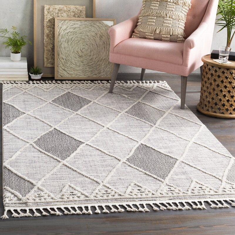 Macalla Geometric Gray Black Area Rug Reviews Allmodern