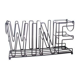 Haywa 4 Bottle Tabletop Wine Rack By Borough Wharf