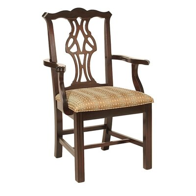 Dining Chair AC Furniture Upholstery Color: Howdy Taupe, Frame Color: Montana Walnut