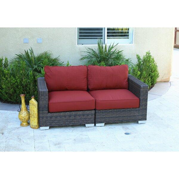 Brayden Studio Ortley Oversize Loveseat With Sunbrella Cushions Wayfair