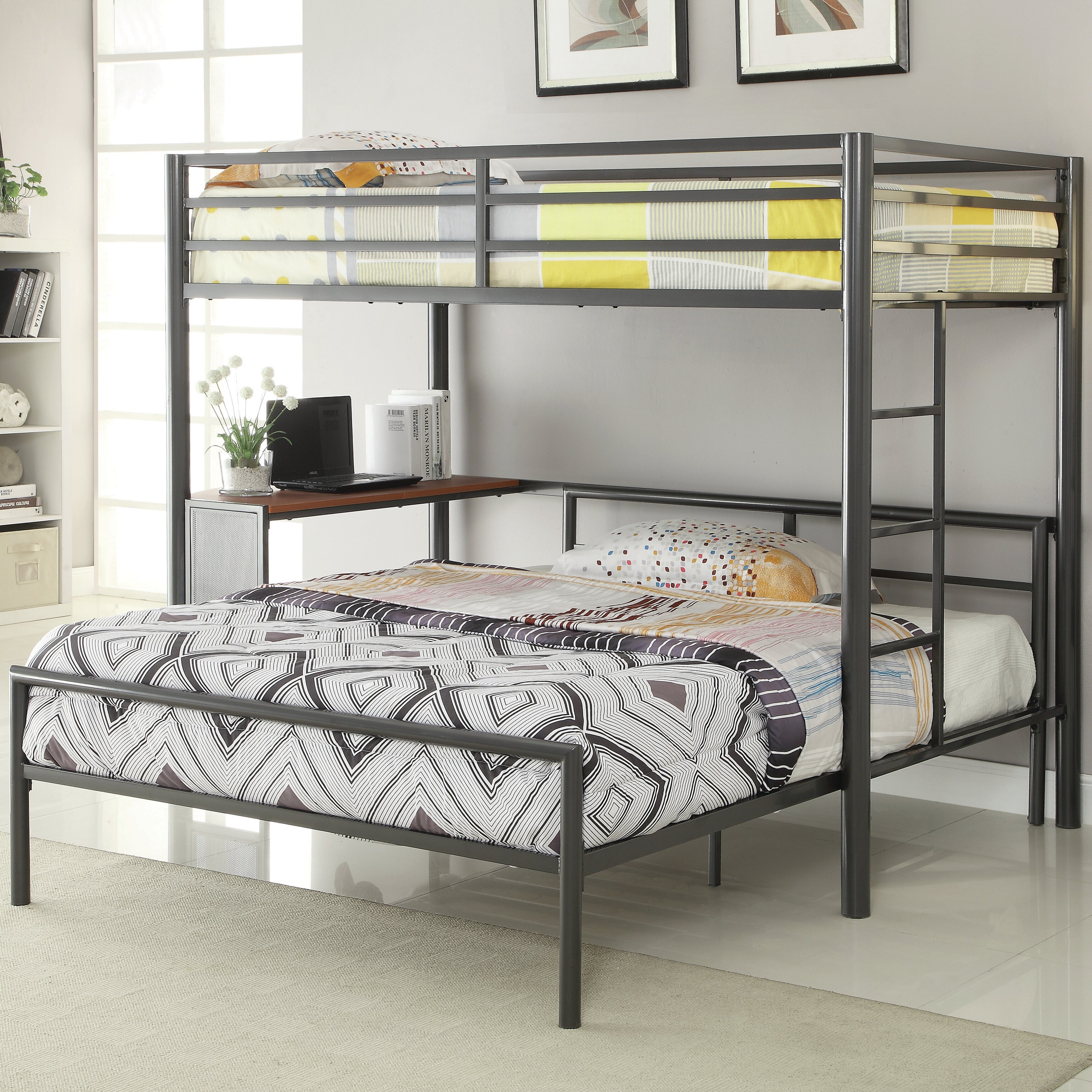 Harriet Bee Nedra Twin Over Full L Shaped Bunk Bed Reviews