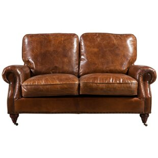 Reagan Leather 2 Seater Sofa By Williston Forge