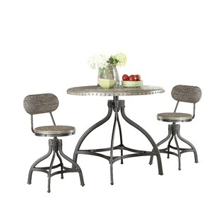 Lisdale 3 Piece Adjustable Counter Height Set with Stool Seating Williston Forge