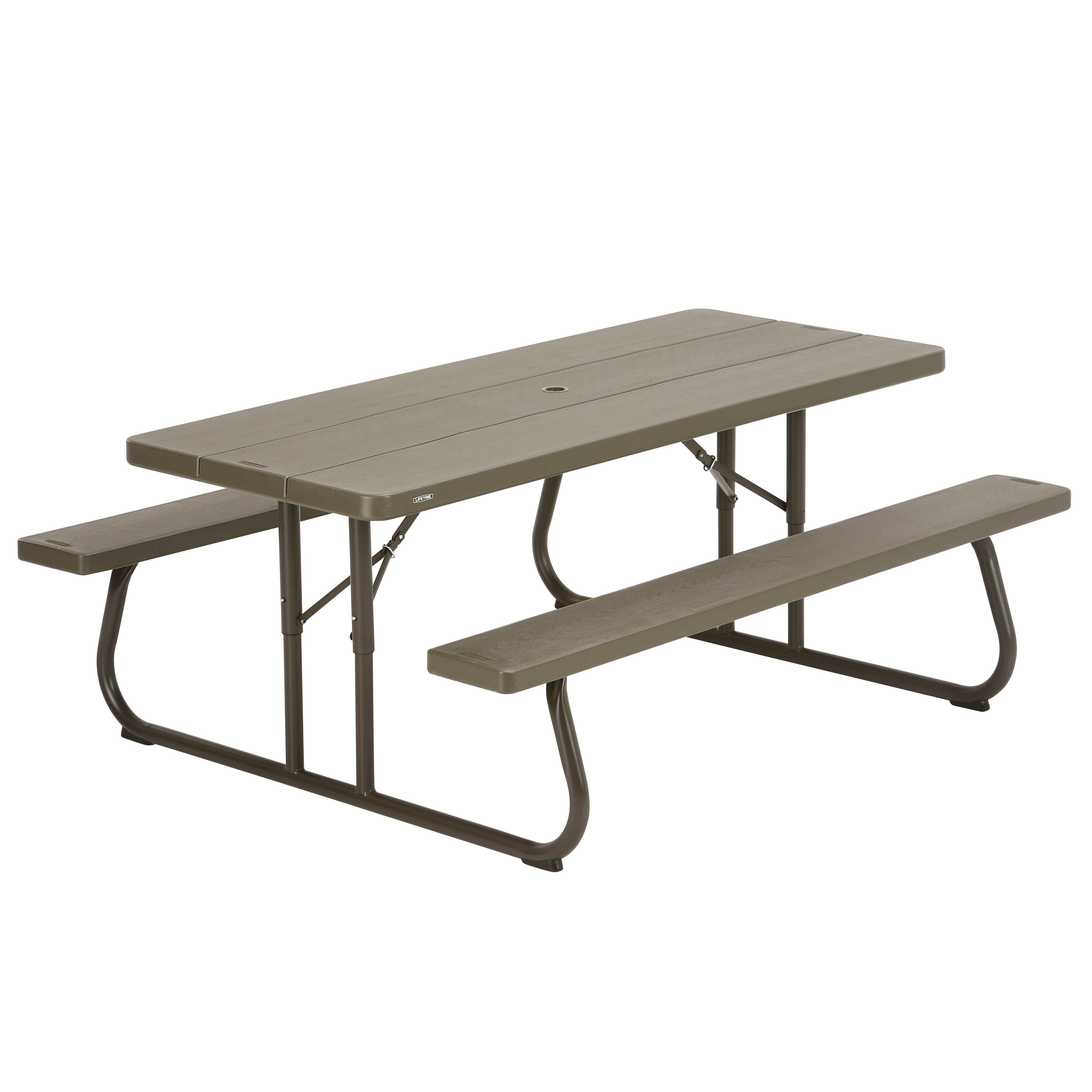 - Lifetime Folding Plastic And Steel Picnic Table Wayfair.co.uk
