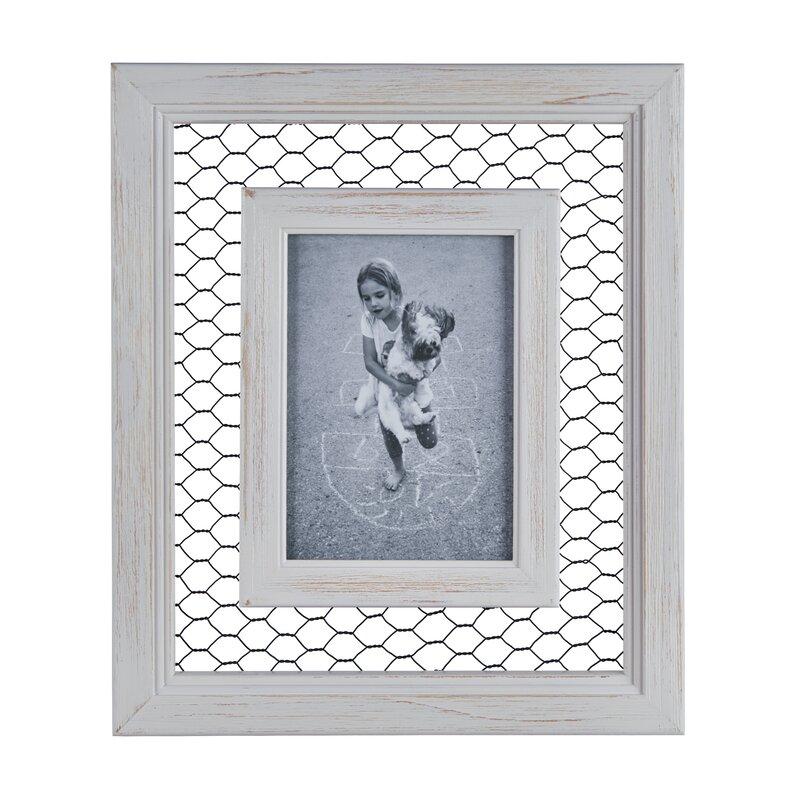 Gracie Oaks Bibiana Chicken Wire Wood Picture Frame | Wayfair